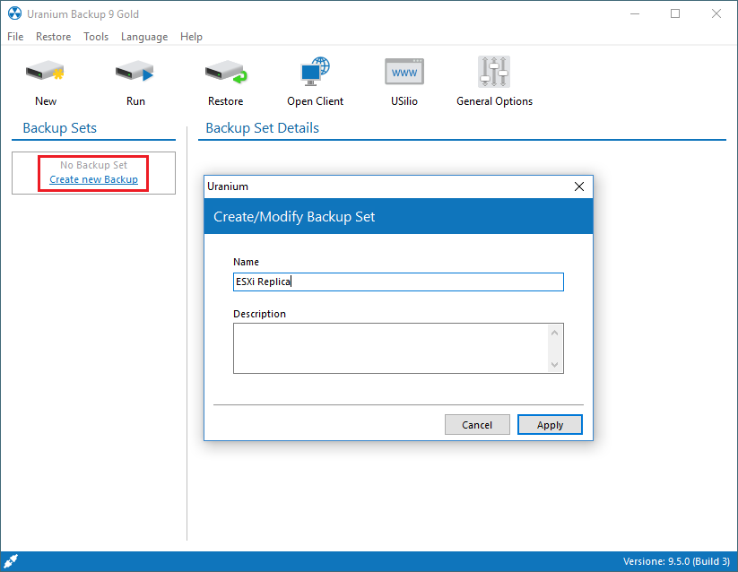 3. Configuring a VMWARE ESX(I) / VSPHERE replica of a virtual machine