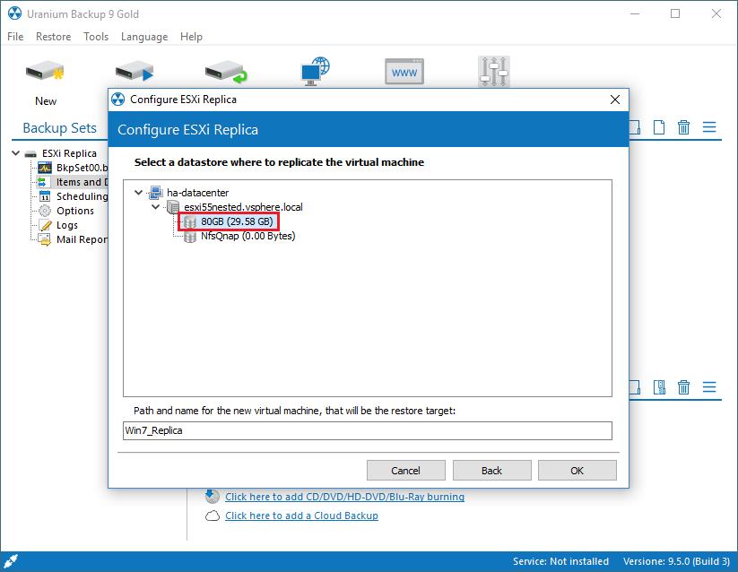 3. Configurare una replica di VM VMware ESX(i)/vSphere