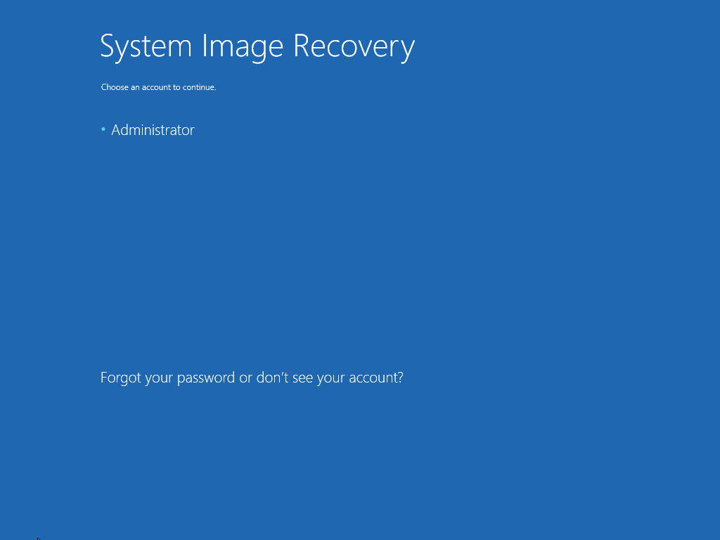 3. Restoring from a drive image backup