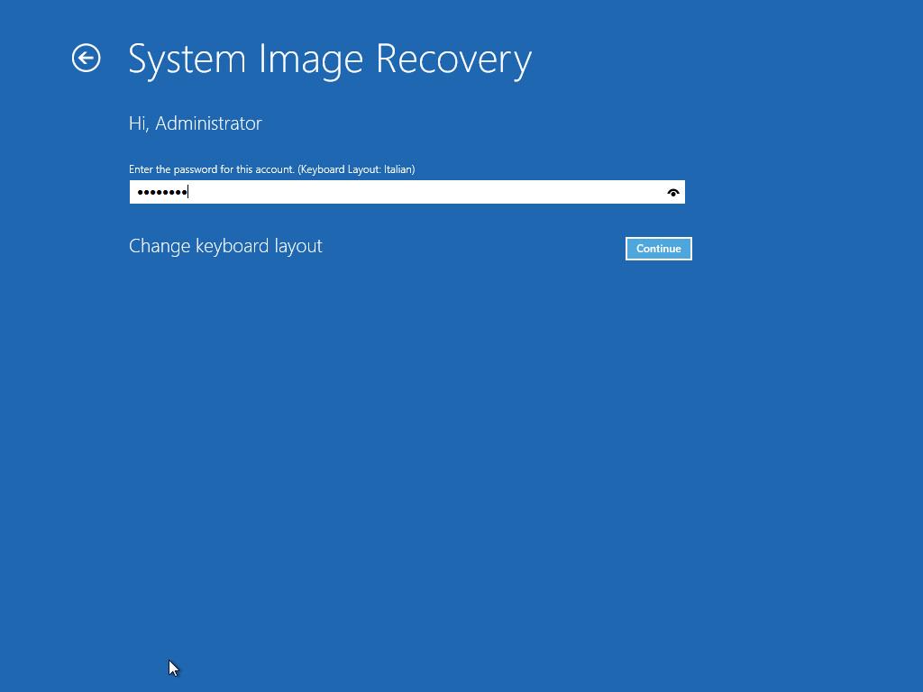 3. Eseguire il restore da un backup Drive Image