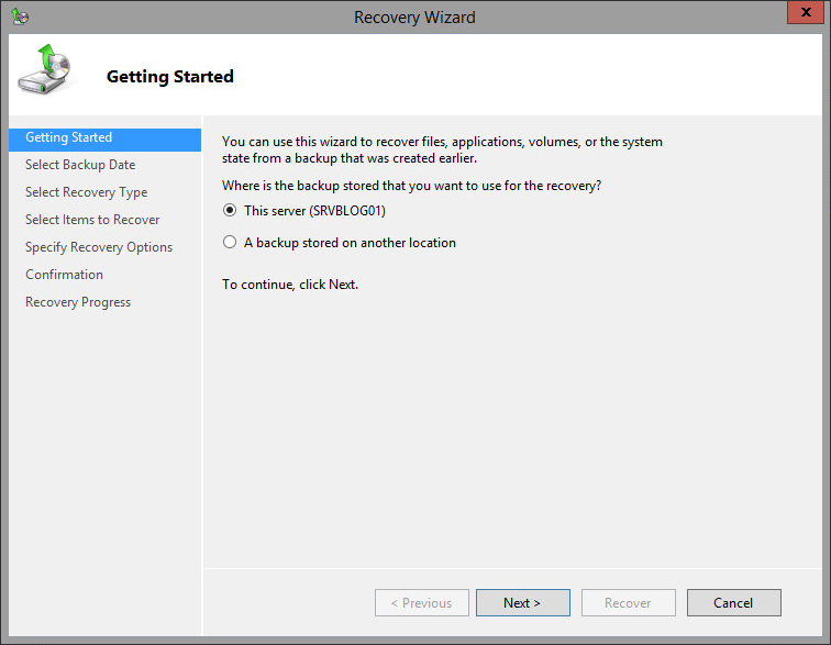 4. Restoring from a system state backup