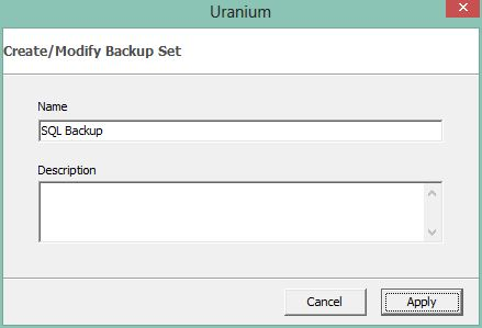 1. Configuring a microsoft sql server backup