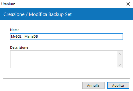 3. Configurare un backup di database MySQL / MariaDB