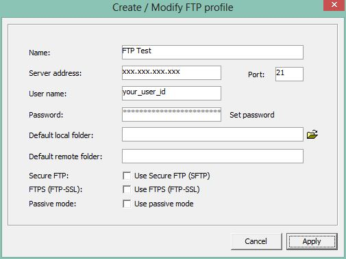 1. Using the ftp client