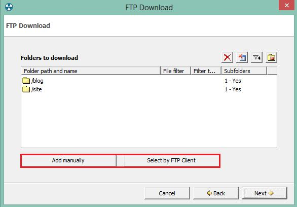 2. Configuring a ftp backup