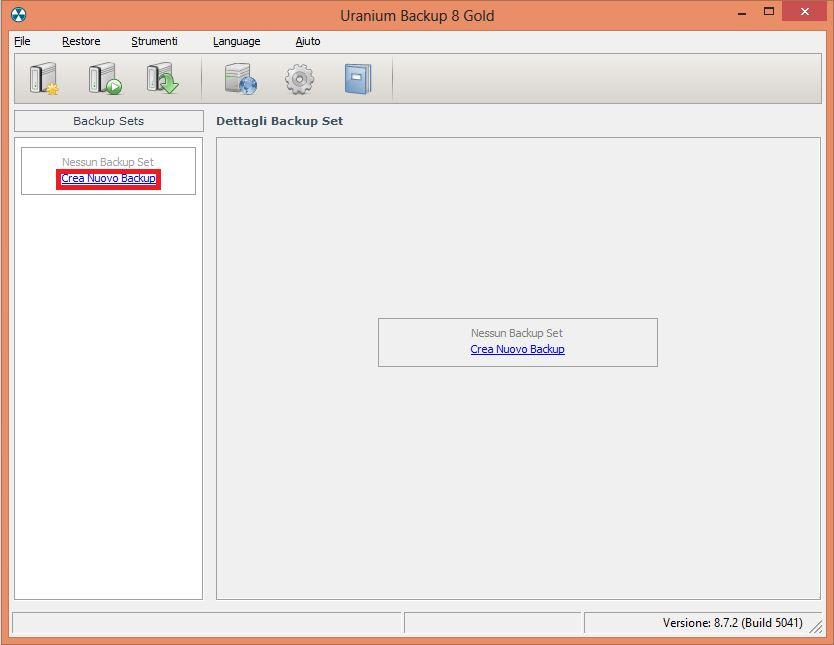 2. Configurare un backup su FTP